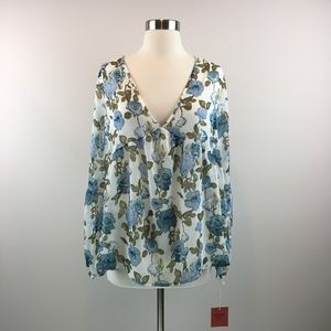 NWT Mossimo Supply Co Top Floral Blouse Size XL🌸